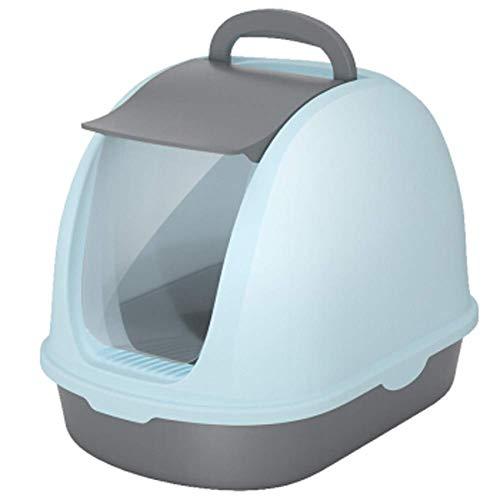 Caja de arena extra grande para mascotas, bandeja de arena con tapa para gato, 56 x 39 x 36,5 cm, filtro de carbón profundo