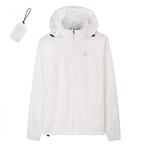 Générique Combinaison de Protection Solaire Ultra Fine Respirante pour Le Camping, Blanc, Taille L