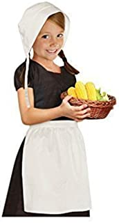 amscan Thanskgiving White Pilgrim Girl Set | Party Costume