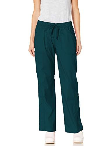 Dickies Damen Low Rise Straight Leg Drawstring Pant Medizinische Scrubs Hosen, Karibikblau, Groß