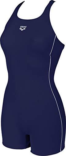 ARENA Damen Sport mit Bein Finding Badeanzug, Navy/White, 46