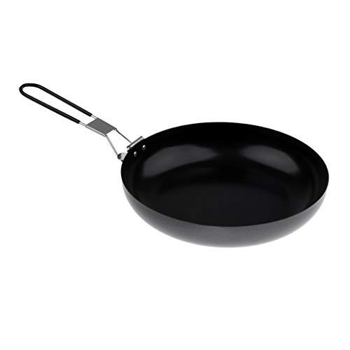 SIMNO JIAHONG Freír la manija Pan con acampa Plegable Pan Cookware Que acampa