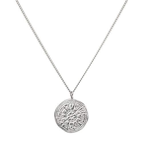 PURELEI® Zodiac Halskette (Gold, Silber & Rosegold) Mit Anhänger (40 cm Länge) (Silber)