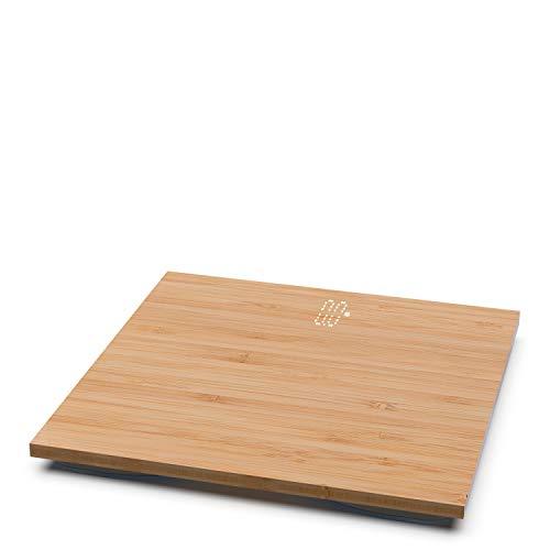 IKOHS BALANCE BODY BAMBOO - Bilancia da bagno in bambù, compatta, capacità di 180 kg, laminato di bambù naturale