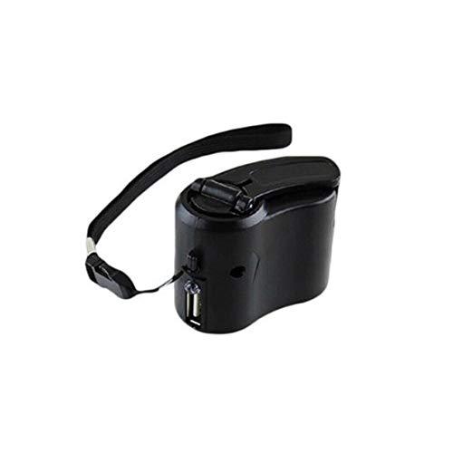 Rendeyuan Cargador de teléfono móvil de Viaje generador de manivela de Emergencia Cargador de Emergencia de teléfono con generador de manivela - Negro