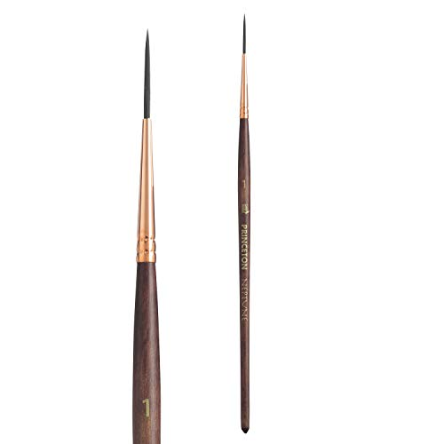 Princeton Artist Brush, Neptune Series 4750, Synthetic Squirrel Watercolor Paint Brush, Script Liner, Size 1