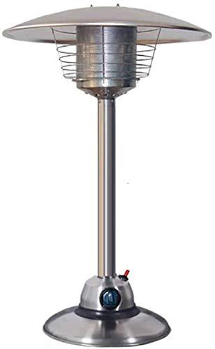 DYB Calentadores de Patio, Mini Ventilador de Torre con Pedestal Que Ahorra Espacio Calentador de Gas Multifuncional de propano para Exteriores con Ah