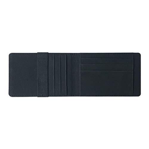 Radorock Men Leather Multi-Card Card Holder Wallet Soft Skin Card Holder Package (Black)
