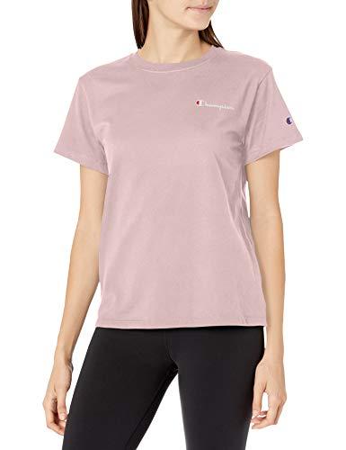 Champion Damen Classic T-Shirt, Hush Pink-y08160, Klein