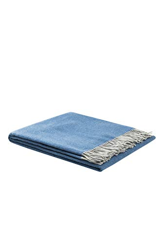 LANEROSSI Plaid Ulisse 130x180 cm 100% Merinowolle extrafein hellblau