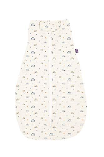 Träumeland Saco de dormir de verano de bambú con diseño de lluvia de verano