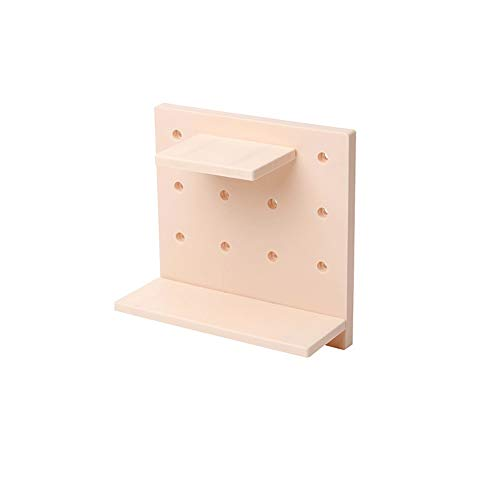 Wandplanken, kunststof gatplaat opbergrek, geschikt voor woonkamer keuken slaapkamer partitie muur ophangrek