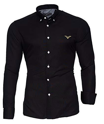 Kayhan Hombre Camisa, Oxford Black M
