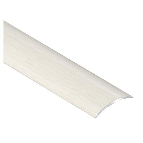 CEZAR W-AL-LPO30K-DB-090 Schutzleiste/Übergangsschiene/Übergangsprofil mit Laminat/Holzdekor Eiche Weiß mit Dübeln schmal selbstklebend 30mm