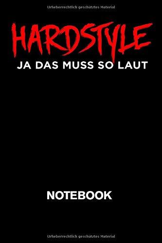 Hardstyle Ja Das Muss So Laut Notebook: A5 Kariert Karo 120 Seiten | Hardstyle Notizbuch für alle Rawstyle Festival Party Gänger | Ideales Merch Geschenk für Hardstyle Lover