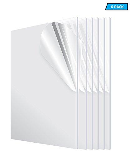 AdirOffice Acrylic Plexiglass Sheet 12''x24'' 1/8''...
