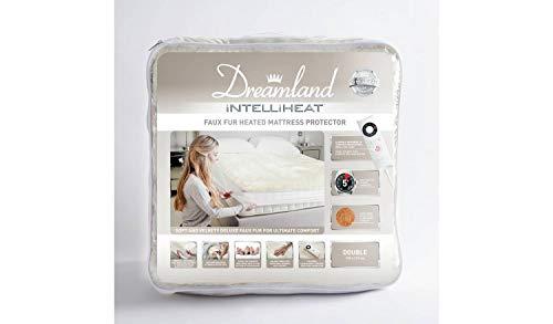 Dreamland Intelliheat - Protector de colchón de piel sintética para cama individual
