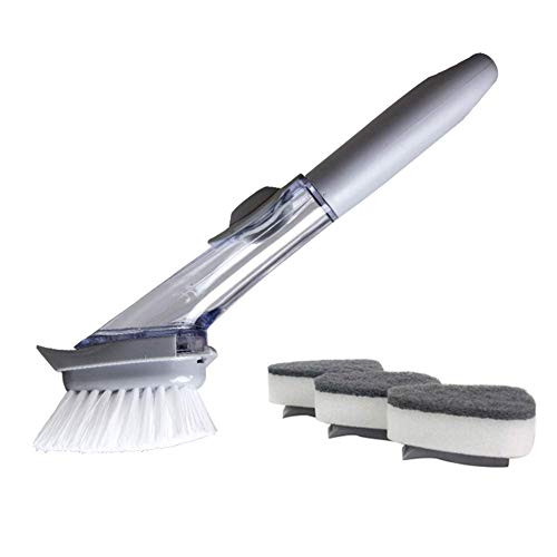 Reuvv Kitchen Dish Scrubber/Wash Up Brush Zeep Automatische Dispenser Afwasborstel met zeephandvat