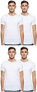 Tommy Hilfiger Vn tee SS 3 Pack Premium Essentials Camiseta, Blanco 100, XL (Pack de 3) para Hombre