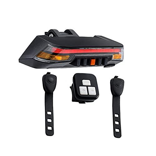 Tres mandos a Distancia, inducidos por la luz Luces traseras para Bicicletas Control Remoto luz Trasera de la Bici Impermeable IPX6 Dirección Hilos Inteligente de la luz Trasera, Ocho Luminoso Modos