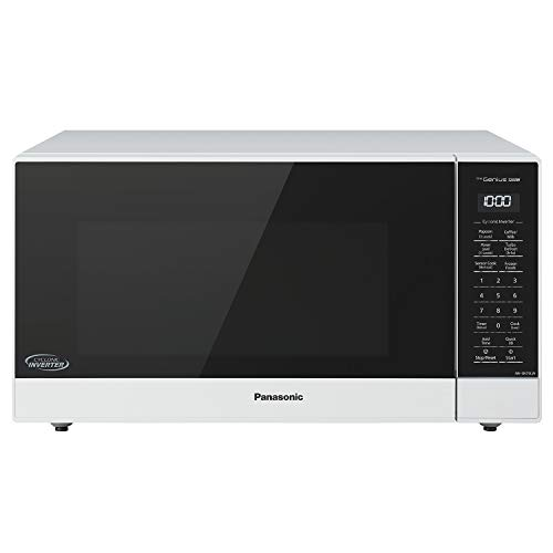 Panasonic NN-SN75LW Countertop Microwave oven with Cyclonic Wave Inverter, Genius Sensor, 1250W of Cooking Power, 1.6 cft, White