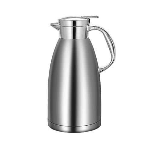 Aoyo Edelstahl-Isoliertopf, Haushalts-Isolierkessel-Kaffeekanne, Thermos-Wasserflasche Mit Großer Kapazität(Color:Silber)