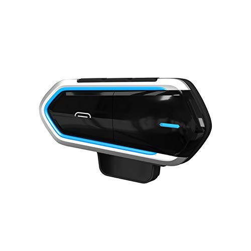 Casco de Motocicleta Bluetooth V4.1 Auriculares inalámbricos Anti-Interferentie VoorHelmet Intercom Moto Radio Manos Libres Auriculares (Color : QTB35 Blue)