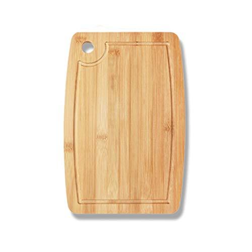 zxb-shop Tabla de Cortar de Cocina Suavizar los Bordes de Corte Tarjeta Tarjetas Tabla de Cortar for Carne y el vehículo, con el Jugo Tabla de Cortar de bambú orgánico Groove Profesional (Size : C)