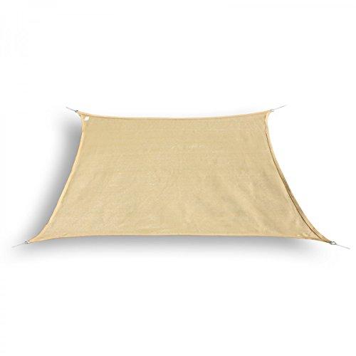 bonsport Marken Sonnensegel Sonnenschutz Trapez Trapezform trapezförmig 3/4 x 2 m Sand