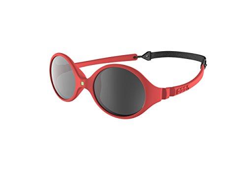 Ki ET LA – Gafas de sol para Bebé modelo Diabola – 100% irrompibles - color Coral – 0-18 meses
