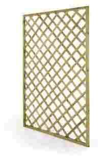CABEX CO. s.r.l. – Pannello Grigliato Rettangolare Cm. 100x200 da Balcone, Terrazzo e Giardino, in Legno di Pino/Abete impregnato in Autoclave Modello [628/33]