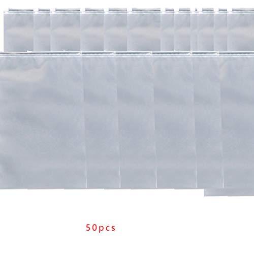 rongweiwang 10Pcs/50Pcs Travel Clothes Storage Bag Transparent Matte Seal Ziplock storage bag Waterproof Makeup Organizer Pouch Bag