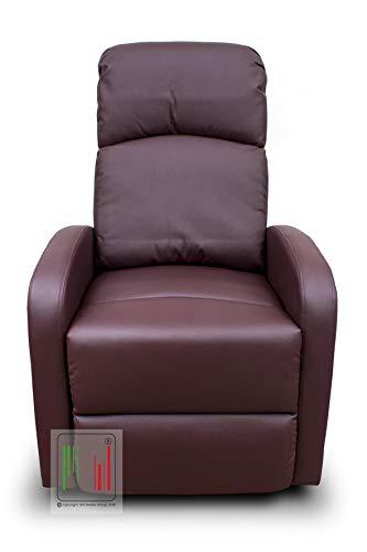 Stil Sedie - Poltrona reclinabile Recliner con Tre Livelli di Posizione Poltrona Relax, Poltrona TV, Poltrona Letto MOD Vittoria Colore Bordeaux