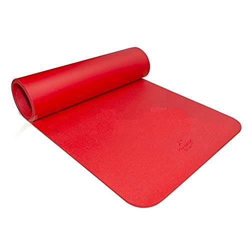 Colchoneta Para Fitness y rehabilitación 185cmx70cmx1cm RehabMedic FITMAT Rojo