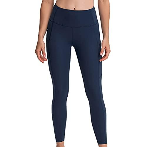 Pantalones de yoga para mujer con cintura alta Control de barriga Entrenamiento Correr Leggings para motociclistas con cintura de cintura Leggings Control de abdomen Pantalones de yoga elásticos