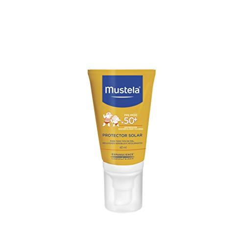 Mustela Protector Solar Facial Muy Alta Protección FPS 50+ para Bebé o Niño de Cualquier Tipo de Piel, 40mL