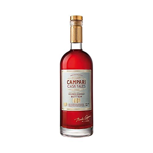 Campari Cask Tales 25% Vol. - Leicht alkoholisch, Campari-Kräuterprofil mit fruchtig, süß cremigem Bittergeschmack - gereift in Bourbonfässern - 1,0 l