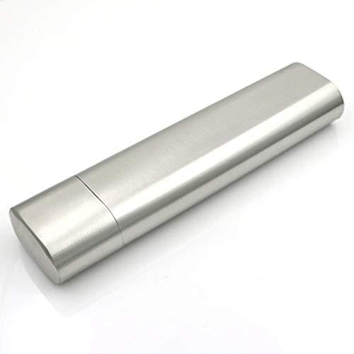 ASDZ Estuche para Cigarrillos Tubo De Puros De Acero Inoxidable Estuche para Cigarrillos Humectante Estuche para Puros Espesante Portátil para 2 Puros