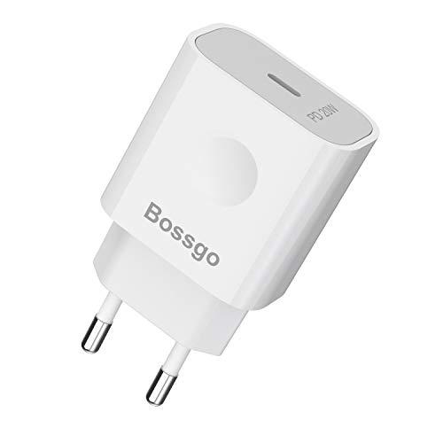 Rapido Caricatore per iPhone 12 USB C 20W Power Delivery 3.0 Alimentatore Tipo c per iPad Air4/Pro; per iPhone 12/Mini/Pro/Pro Max; 11/Pro/Pro Max; X/XS/XS Max/XR/SE 2020/8, Huawi, Samsng Xiaomi