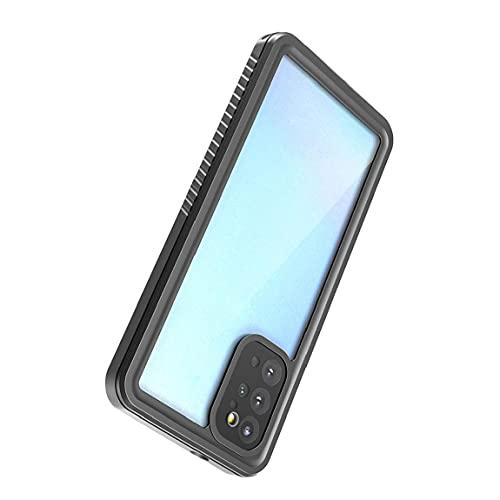 Tuimiyisou Casos de teléfono compatibles con Samsung S20 Plus IP68 a Prueba de choques a Prueba de Polvo del teléfono Caso Negro Claro