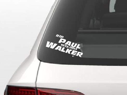 Dinger-Design Aufkleber Premium RIP Paul Walker 15x6 cm weiß