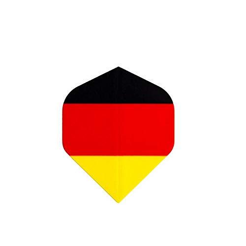 EPRHAN 30 Stück Standard-Dart-Flights in verschiedenen Formen, Dart-Flights und Zubehör, Dart-Zubehör-Set, Nationalflagge Ritter Dart Deutschland