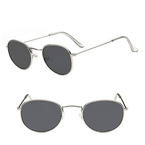 Akaid Gafas de Sol, Gafas de Sol Retro de aleación para Mujer, Gafas clásicas de Espejo de conducción con Marco pequeño