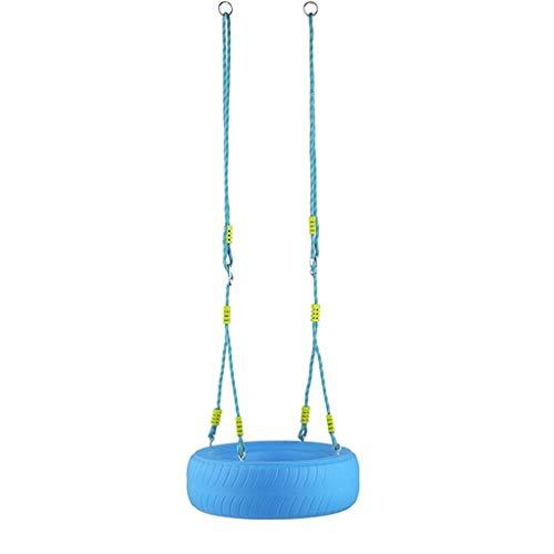 zxb-shop Asientos Columpios Tire Swing Juguetes al Aire Libre Seguro y Duradero Silla para niños Adultos Canasta Colgante Árbol Columpio Patio de Juegos Columpio de Patio de recreo ( Color : Blue-A )