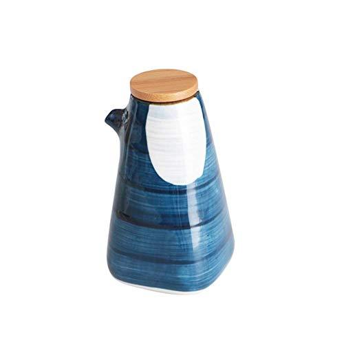 YQG Botellas dispensadoras de cerámica de vinagre de Aceite, Botella de Aceite Creativa Botella de Salsa de Soja para Aceite de Wasabi, vinagre, 220 ml