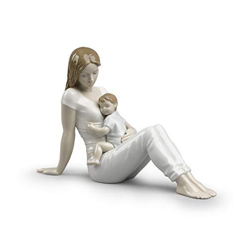 LLADRÓ Figura El Amor De Una Madre. Figura Madre de Porcelana.