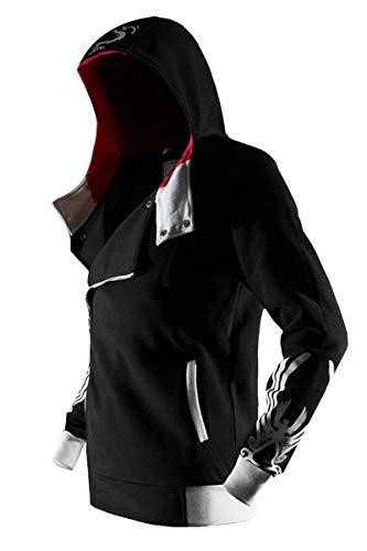 Men's Hoodies Long Sleeve Zipper Camouflage Jacket Sweatshirt Zip Hoodie in Steel Grey, Black, Large