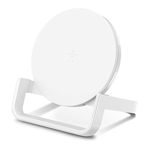Belkin drahtloser Boost Up Ladeständer (10 W, drahtloses Qi-Schnellladegerät für iPhone XS, XS Max, XR, X, 8, 8 Plus, Samsung Galaxy S10, S10+, S10e, Huawei P30, P30 Pro und andere Geräte) weiß