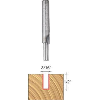 Whiteside Router Bits SC02 Standard Straight Bit with Solid Carbide 1//8-Inch Cutting Diameter and 3//8-Inch Cutting Length