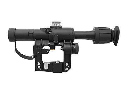 L&E E&L PSO-1-M2 Airsoft Zielfernrohr für SVD etc, inkl. Metallbox & Tasche, beleuchtet